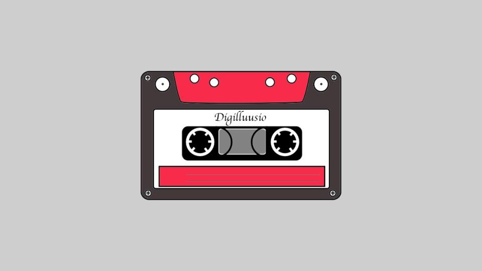 HurraaKerkko digilluusio C-kasetti VHS Bluray DVD