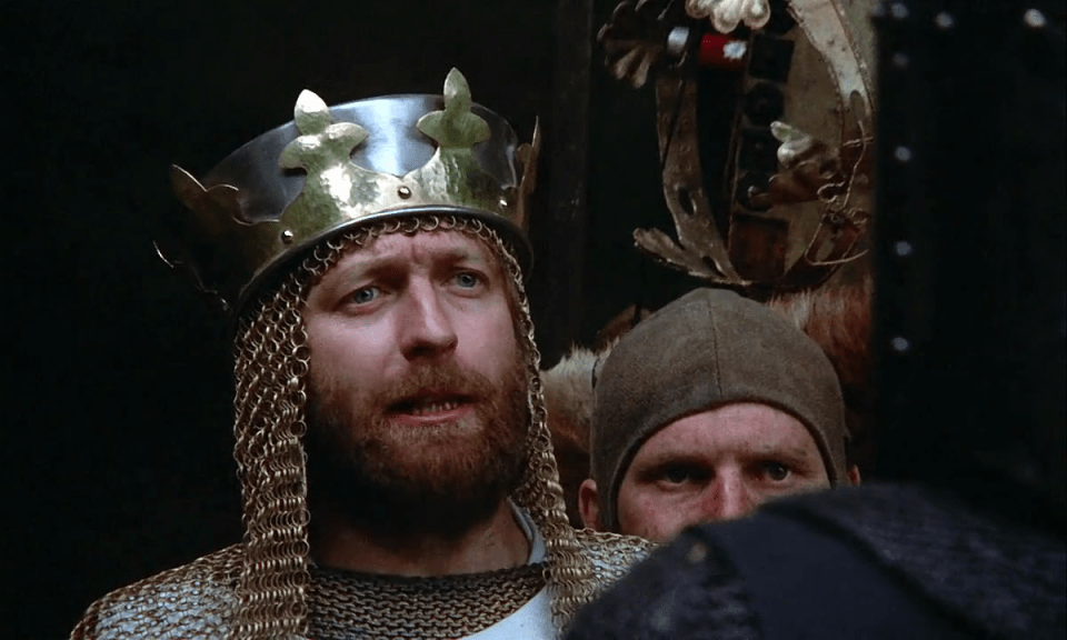 """""""It is I, Arthur, son of Uther Pendragon, from the castle of Camelot. King of the Britons, defeater of the Saxons, Sovereign of all England!"""""""