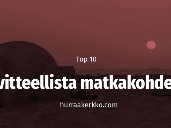 TOP 10 viihdemaailman kuvitteellista kaupunkia tai valtiota