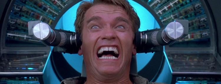 Arnold Schwarzenegger Total Recall brainwash face