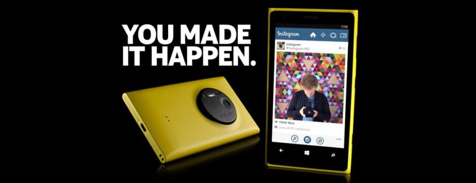 Instagram Lumia-puhelimeen!