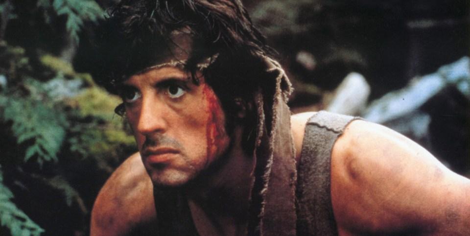Stallone vuotaa verta niin Rockyna kuin Rambonakin.