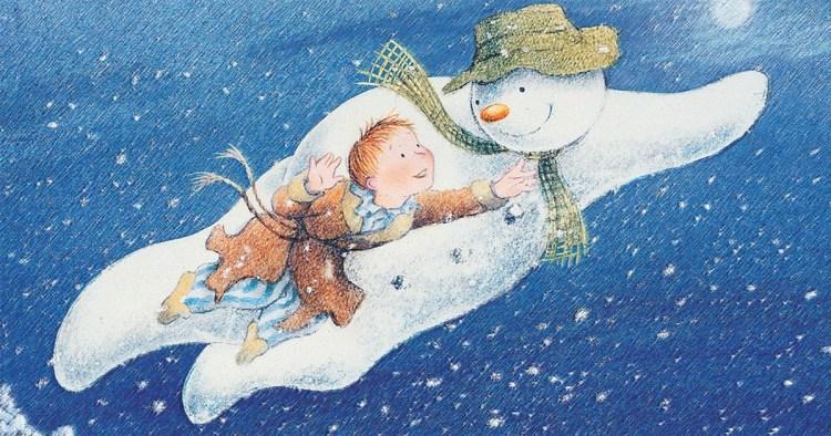 Lumiukko piirretty Aled Jones Howard Blake