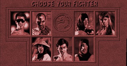 Mortal Kombat character select