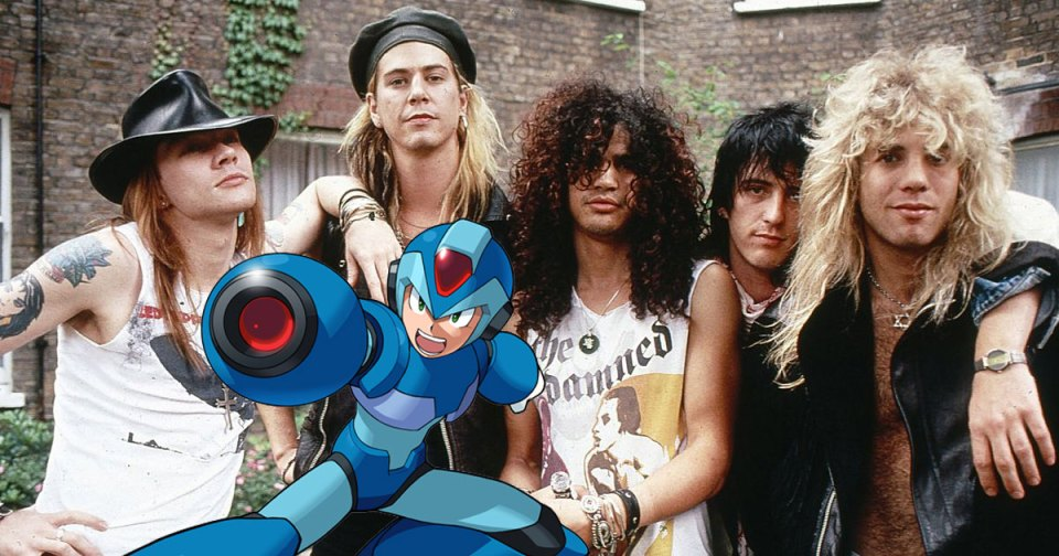 G'N'R Axl Rose Slash Megaman