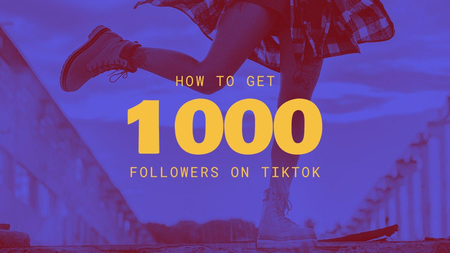 how to grow to 1000 followers on TikTok