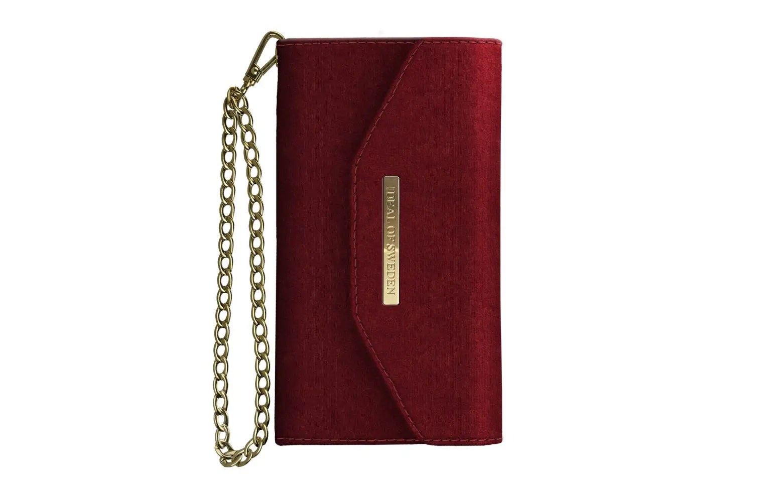 iDEAL of Sweden Mayfair Clutch Velvet iPhone 8 7 6 6S Red - Hurry Skurry b9af102a0c6c5