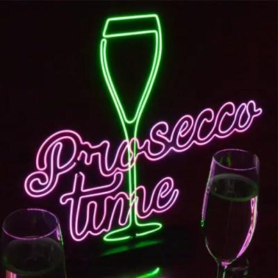 Prosecco Time Neon-Effect Light