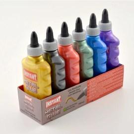 6-Pack Metallic Glue PVA Lim