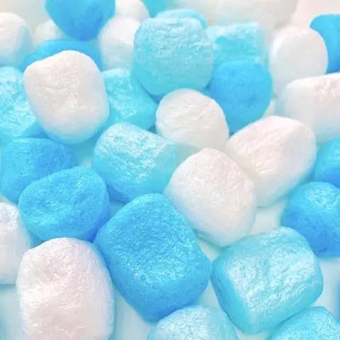 Blue Pärlor Stora Skumbollar Marshmallows - Slime Dekorationer