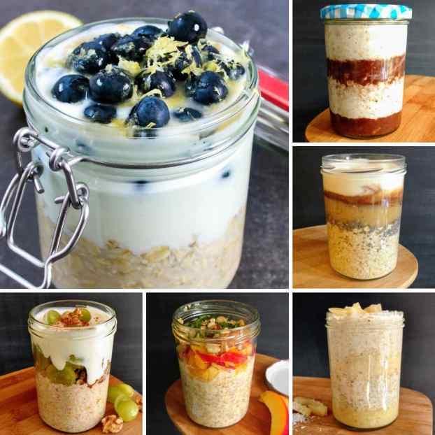 Healthy On-The-Go Breakfast Ideas - Overnight Oats
