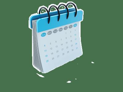 calendar blue