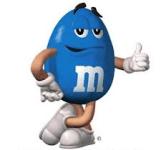M&M's Blau ok