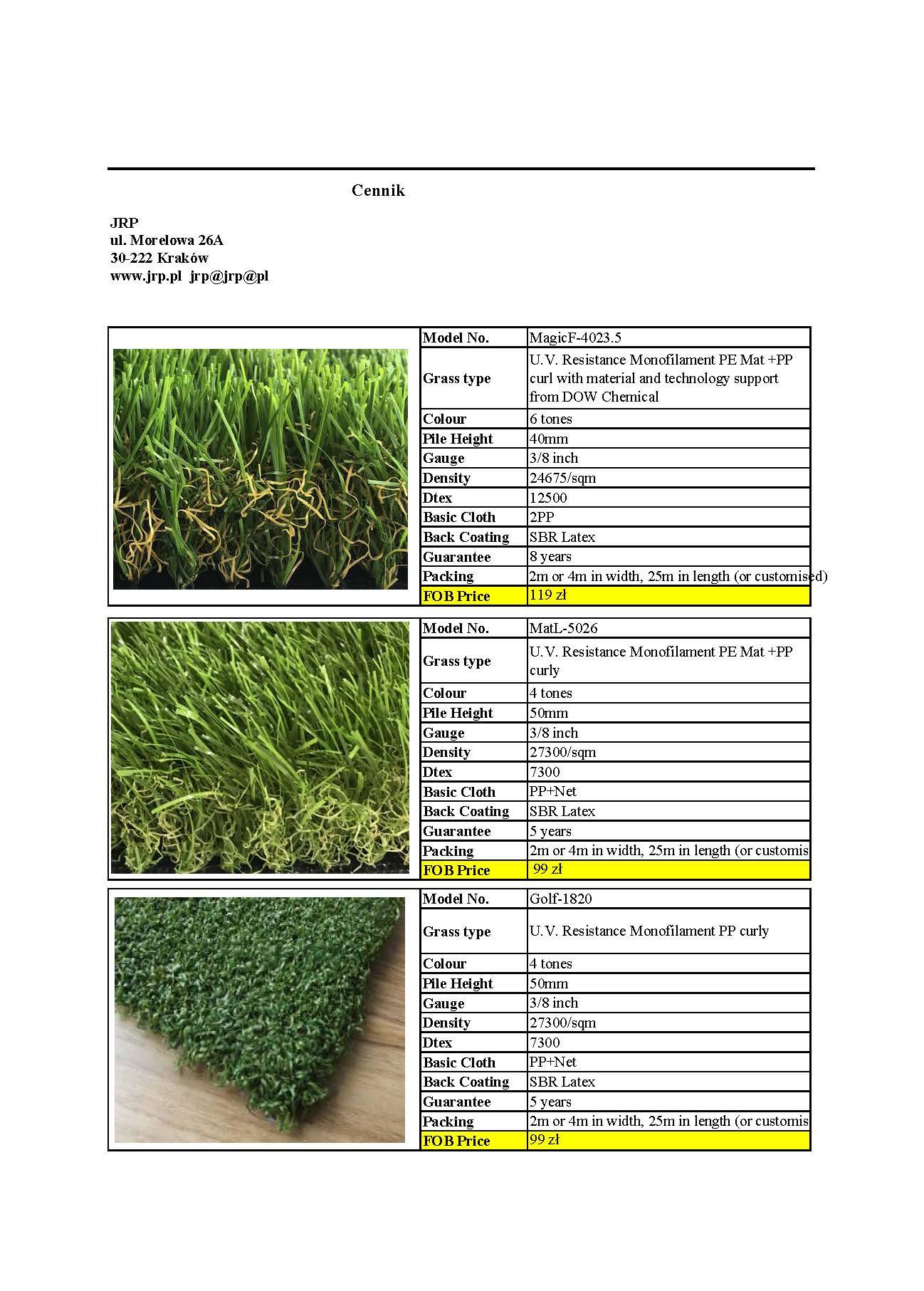 Sztuczna trawa wysokiej jakości