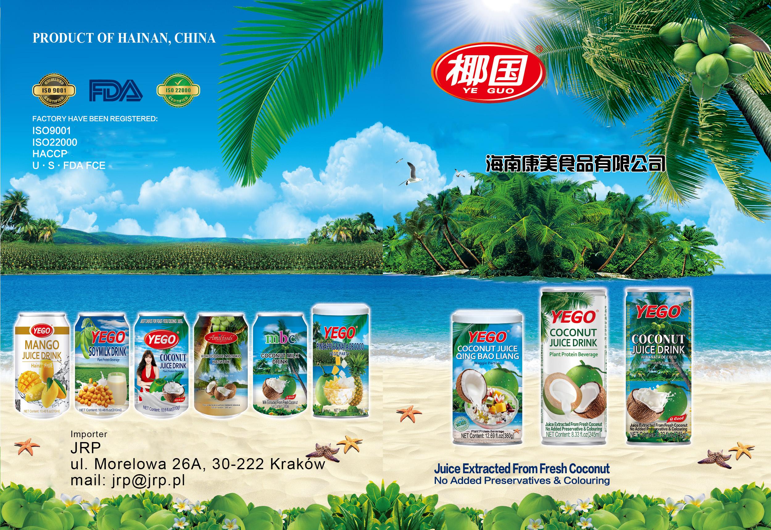 Napój z mleka kokosowego