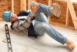 construction worker injury