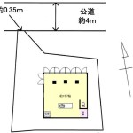 接道35cmの家-2