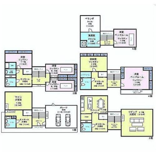 間取り図はただの大豪邸ですが、この物件、内装がとにかくすんごいんです!URLは後程ブログに載せます。#間取り図 #今日の間取り図 #今日の間取り #豪邸 #大豪邸