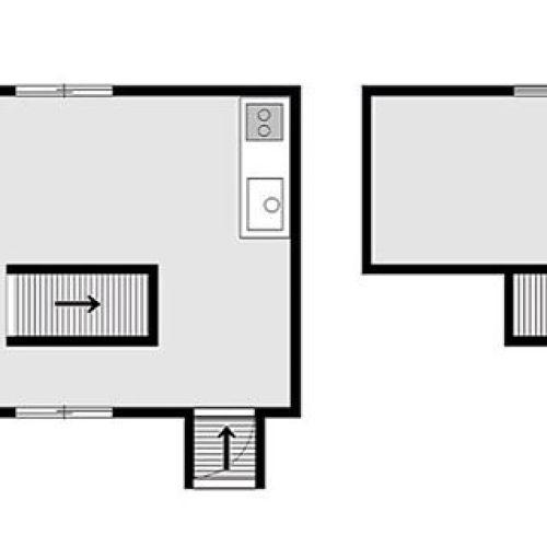 ダンジョン系間取り図。階段というよりは、ファミコンとかであった気がする、スーッと運ばれていくやつに見える。。 #間取り図#間取り#間取り萌え#間取りマニア#間取り図好き #間取り図鑑定士 #間取り図大好き #今日の一枚 #小屋