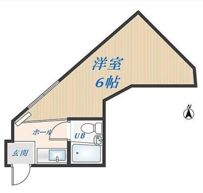 6帖でこの形で収納なし!しかも窓はあそこだけか〜〜ベッドは強制的にあそこだな…無理だー落ち着かない〜>_