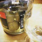 コーヒー瓶で仕込んだ自家製梅酒ミニ。試し飲みしたら美味!嬉しい〜 #自家製梅酒#ミニ#試し飲み#成功#嬉しい
