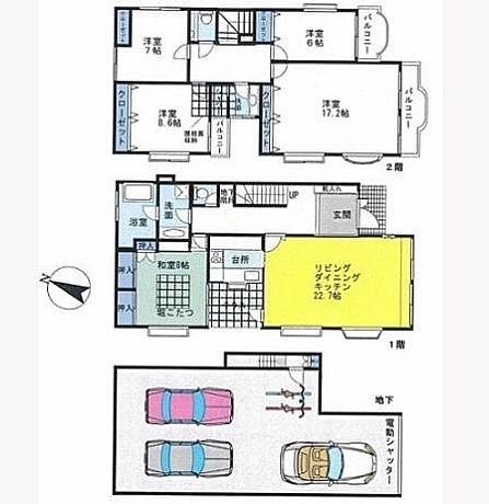 高級な家!っていうアピールを家じゃない部分でする間取り図〜億越えです#オープンカー#でアピール#する#間取り図#あります#LDK#なんて#略したり#しませんよ#スペース#ありますから#広いですから
