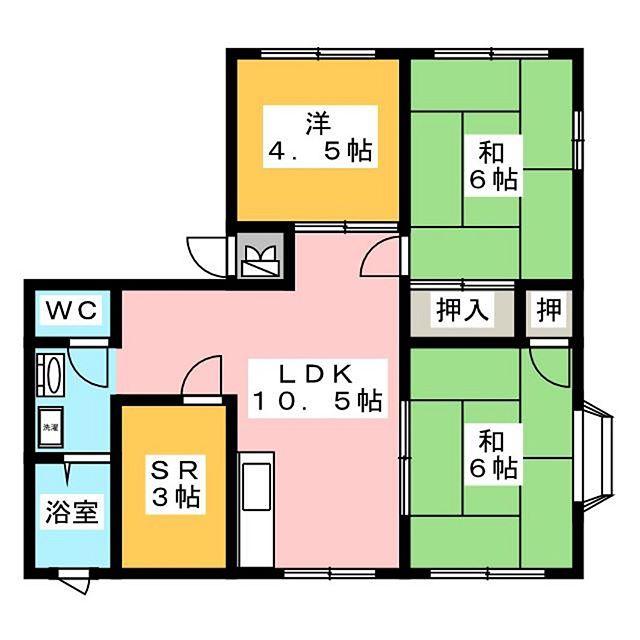 小箱を秘めた扉のある間取り図(笑)#あれ#玄関は#どこですか#そこでしょ#横長#洗濯機置き場#さては#二層式専用#昭和な#間取り図#間取り図アート