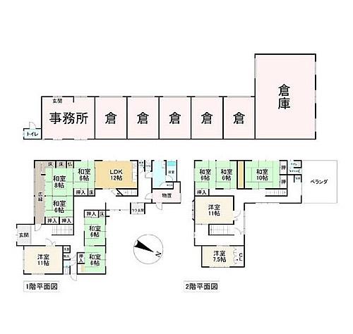 クラクラする〜倉だけに🤣これだけの豪邸を小さく見せる倉庫のサイズ感…かなりデカイ!#悲報#オヤジ化#進行#深刻#倉#クラクラ#浮かんでしまった#全部#倉庫#と#書いて欲しい#間取り図