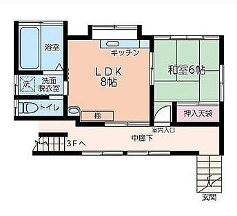 これだけちゃんとした部屋なのに共同玄関ってのは結構レアだと思うので記録。共同の物干し場もあったりするのかな?#間取り図#コレクション#入り
