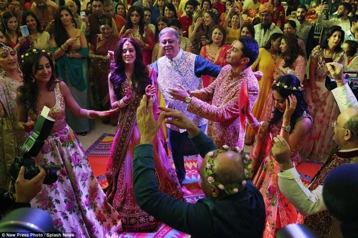 Traditional Indian wedding celebration