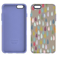 Carcasa iPhone 6 Plus, 6s Plus CandyShell Inked Rainbow Drop Spectrum/Wisteria Purple