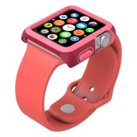 Carcasa Apple Watch 42mm CandyShell Fit Crimson Red/Splash Pink