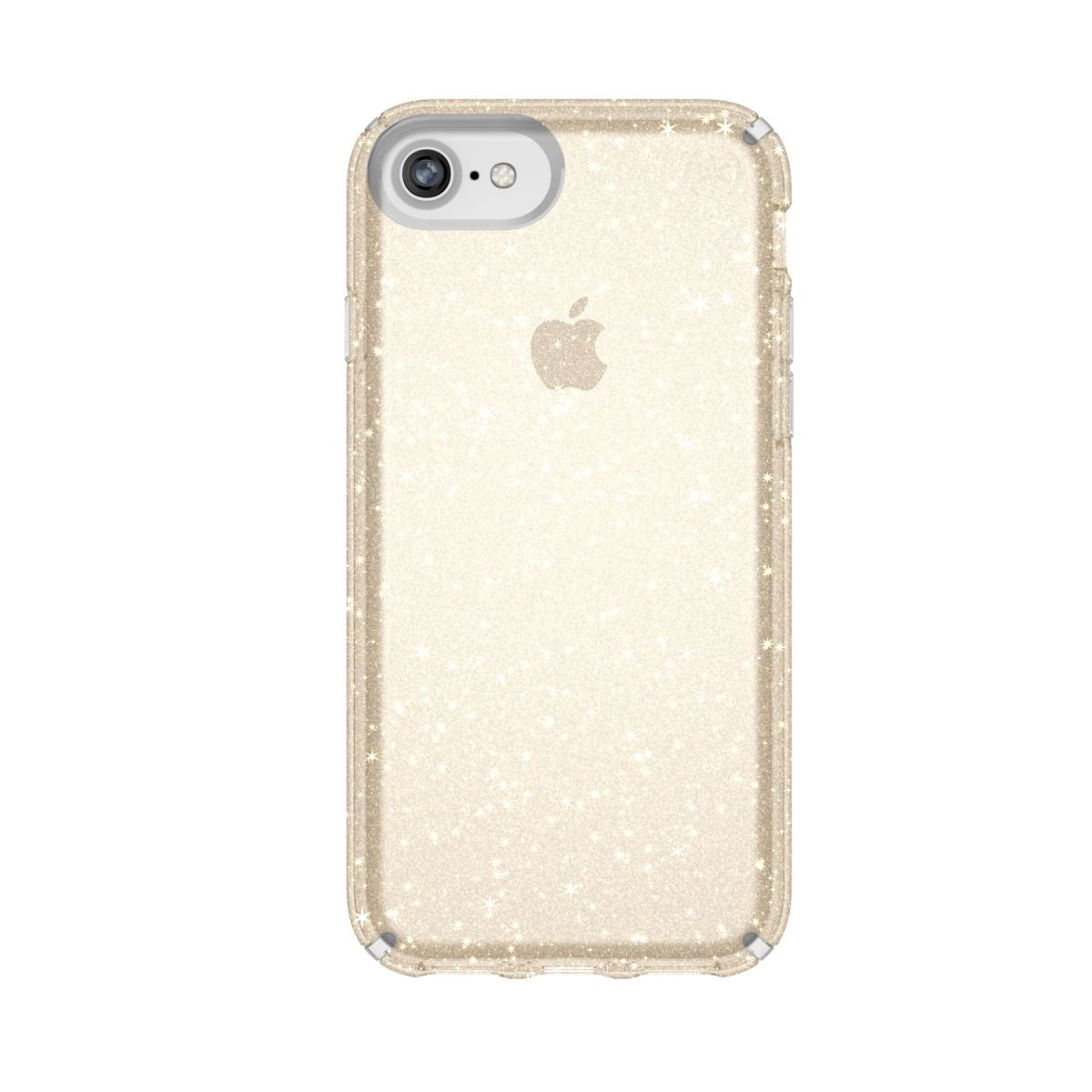 Carcasa iPhone 8/7/6/6s Plus Presidio Clear With Gold Glitter