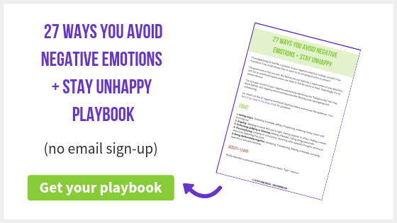 27 Ways You Avoid Negative Emotions + Stay Unhappy | Do you feel like your negative emotions control you? Discover 27 ways negative emotions can show up in your life, so that you can manage them better.