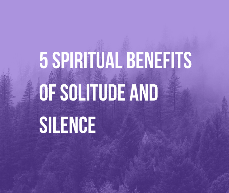 5 Spiritual Benefits of Solitude and Silence | We tend to stigmatize alone time, but spiritual teachers praise it. Studies show that it relieves stress. Find out 5 benefits of solitude and silence.