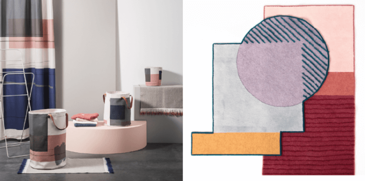 color block textiles ferm living isabel webb