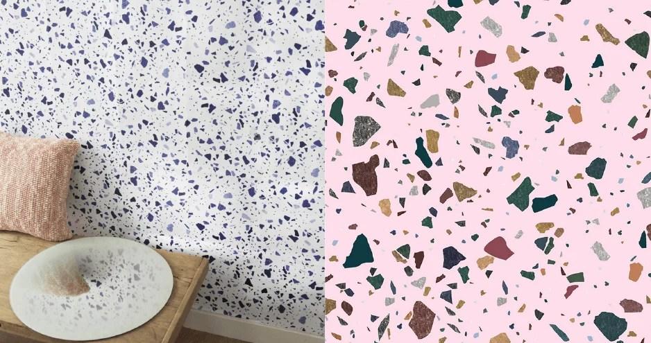 ENO studio paper painted my terrazza trends color block