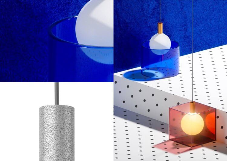 Suprematic Lamps by Wishnya Design Studio
