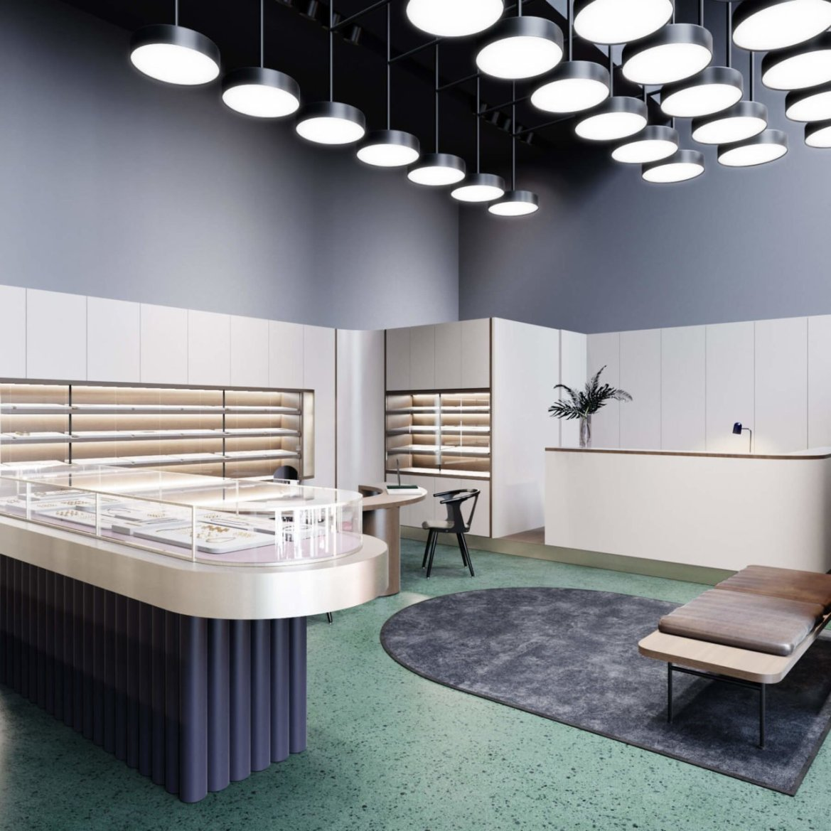 S&Tarchitects, jewelry store in Astana, curated by huskdesignblog.com