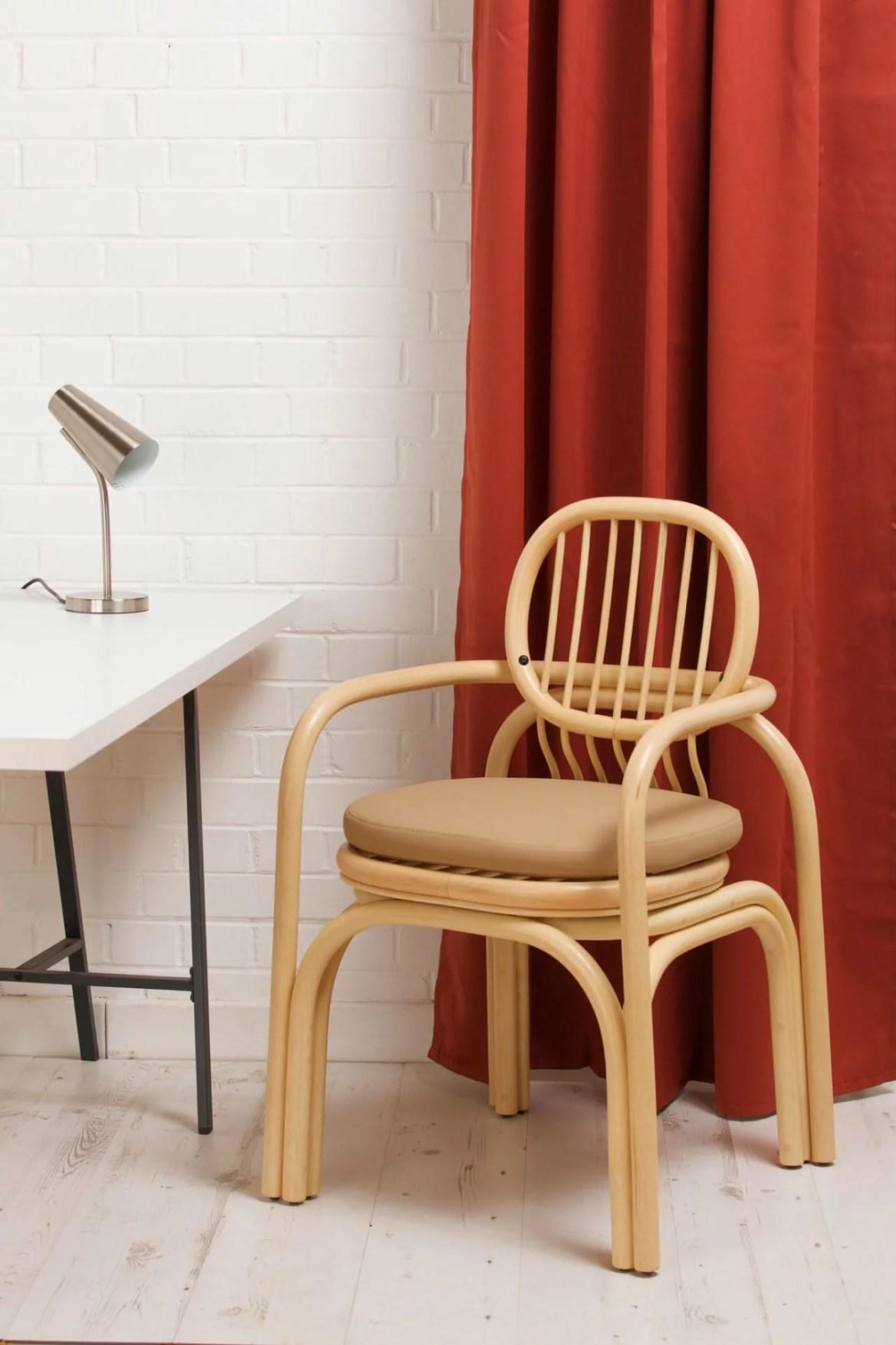 Design, bois, chaise Andrea Mestre, Gandia