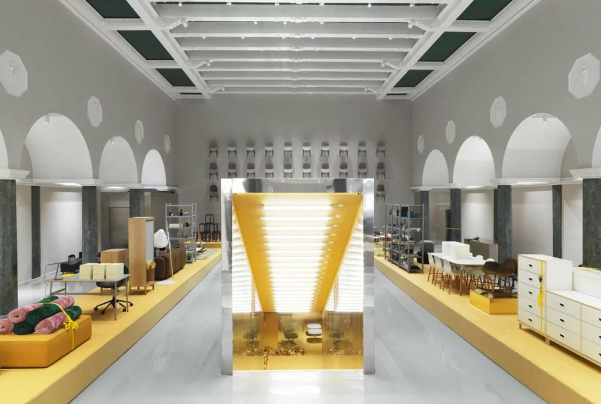 Tendance jaune et or, Normann Copenhagen showroom