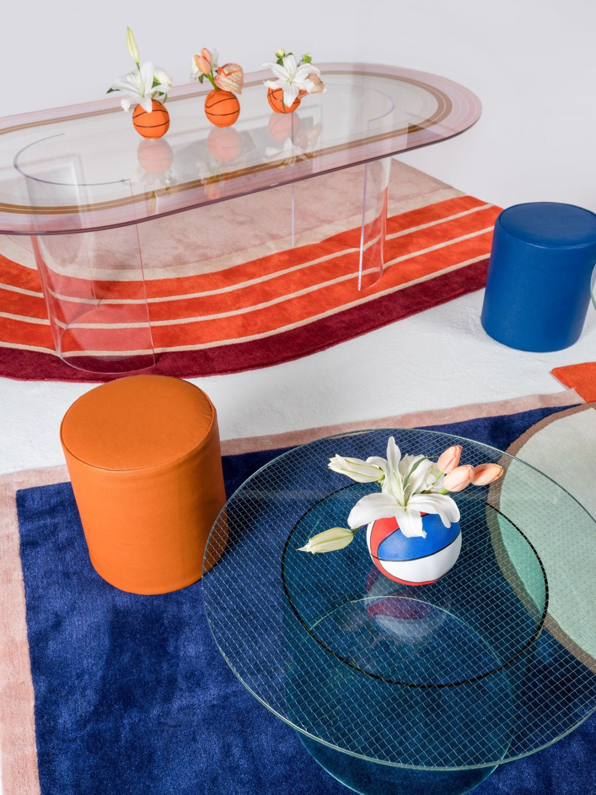 An Aesthetic Pursuit is inspired by the sporting world to create a collection of furniture with strong graphic codes.