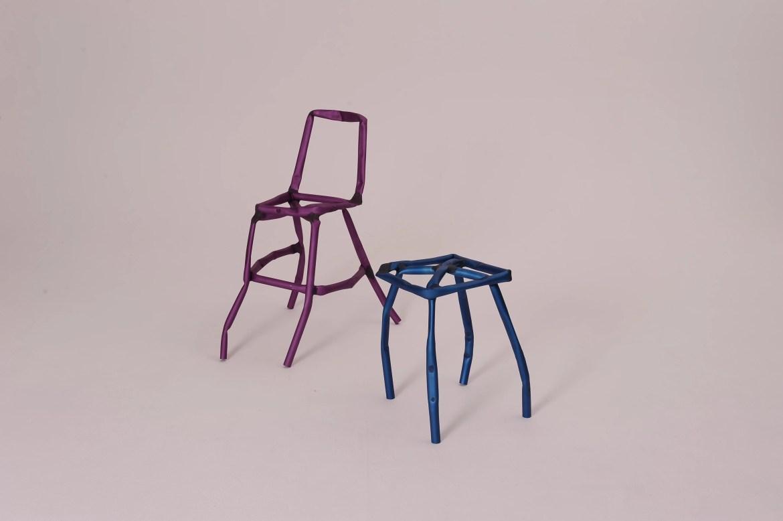 A conceptual design furniture series by Korean designer Jinyeong Yeon.