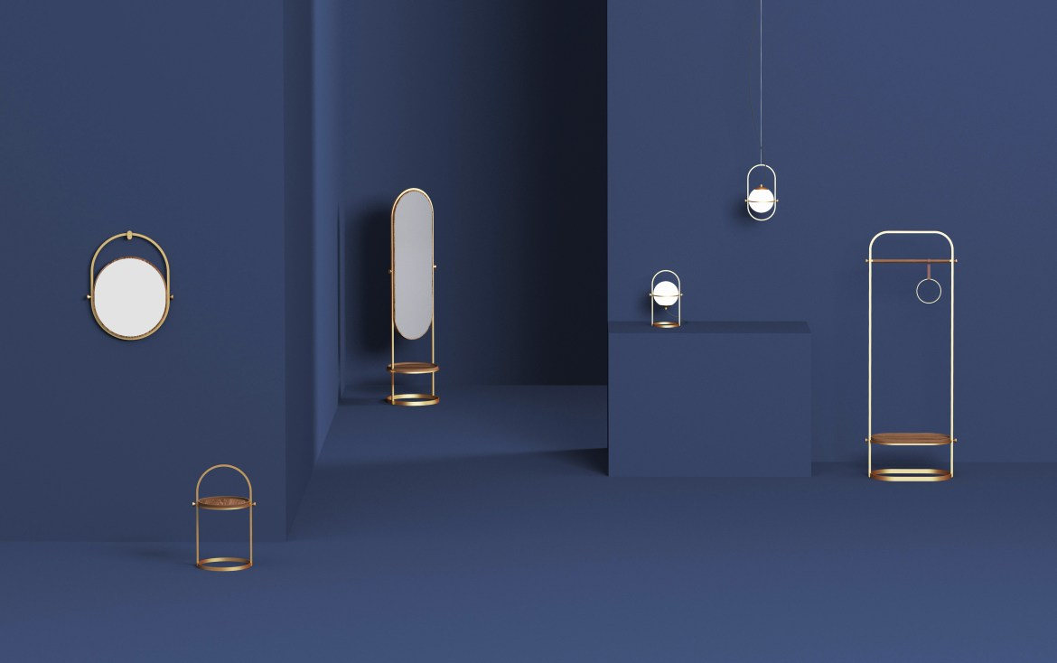 On the occasion of Maison&Objet, Urbancraft presented new works including brass mirrors and lighting.