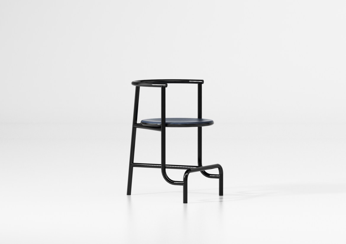 On the occasion of Maison&Objet and Paris Déco Off 2019, designer Fabien Cappello designed a minimal black chair.