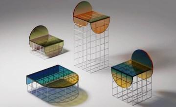 Circle Set Furniture Design: Le Verre Ombré sous un nouveau jour