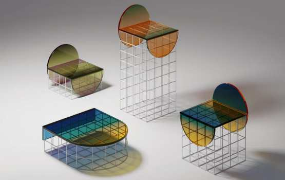 Circle Set Furniture Design: Ombré Glass in a new light