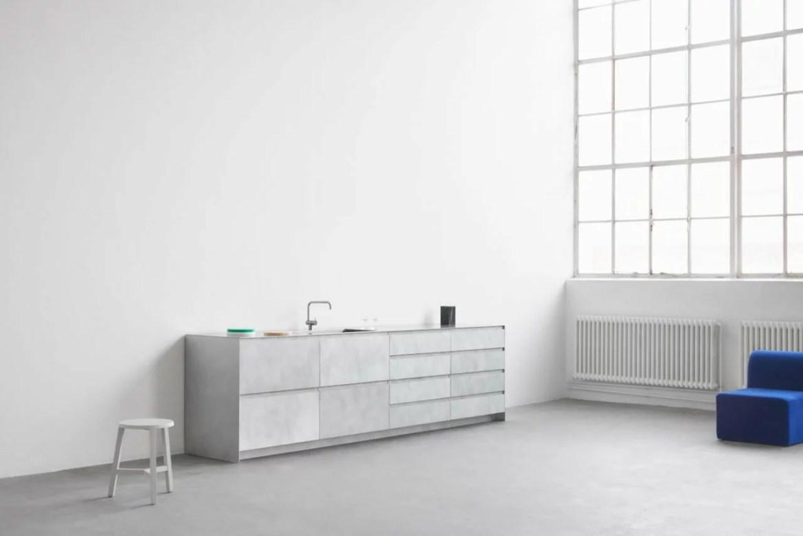 Reform metal kitchen cabinets by Studio David Thulstrup.