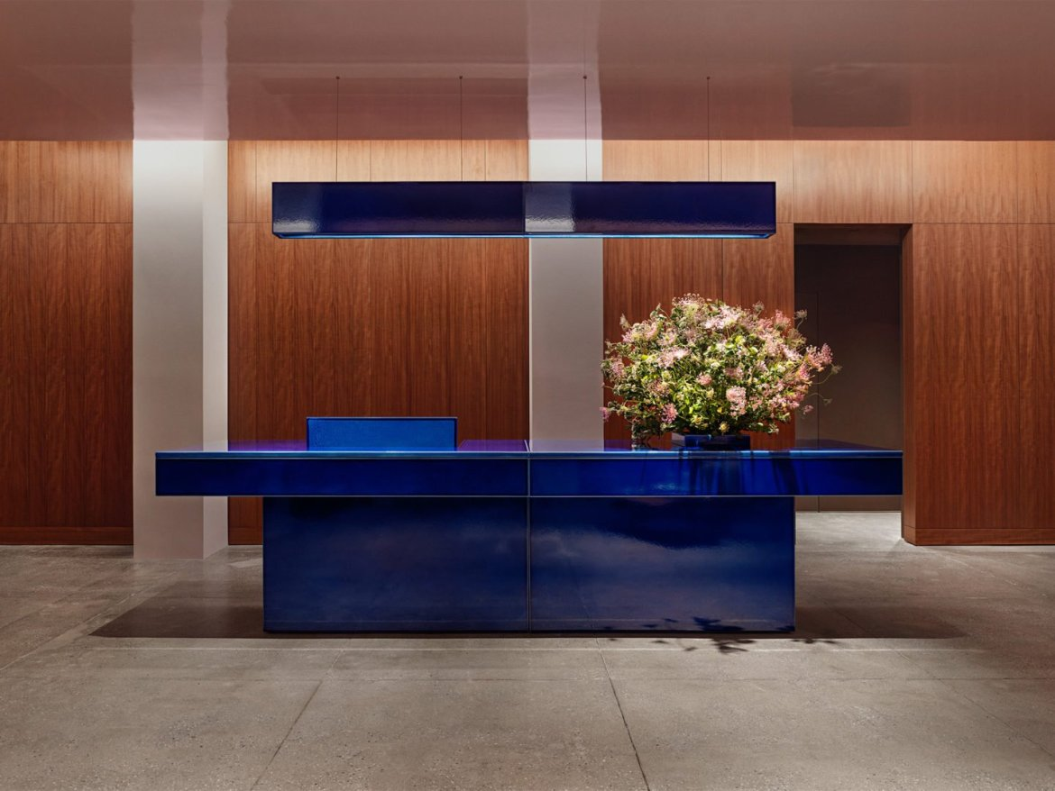 Halleroed designed Calvin Klein's executive suite in New York