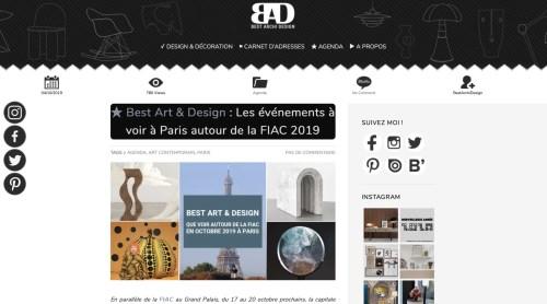 FIAC 2019, Art Elysées 2019, BestArchiDesign, Huskdesignblog